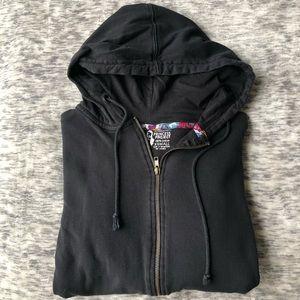 Tops - Black Zip-Up Hoodie